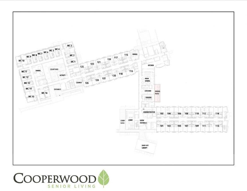 1st Floor Floorplan Cooperwood Senior Living